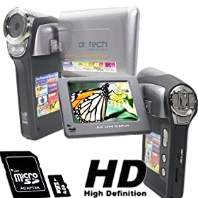 Electronics camera photo camcorders godrules online store hddv2000w micro 4gb card high resolution silver digital video camcorder still camera camera photo fandeluxe Gallery
