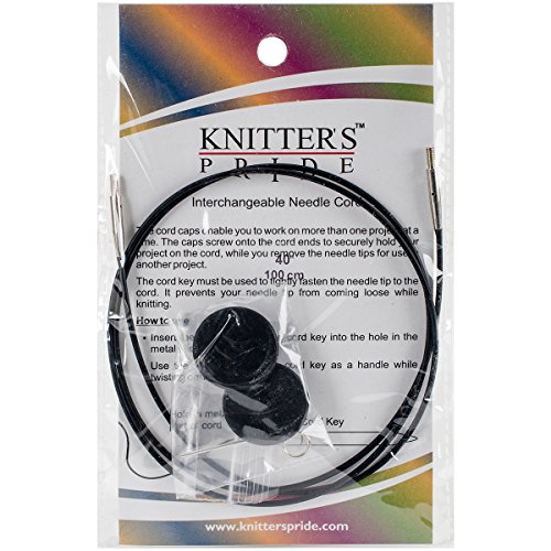 "Why Choose Knitter's Pride Interchangeable Cords, 40"", Black"