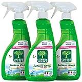 L'Arbre Vert - Spray Nettoyant Surfaces Vitrées - Menthe - 740 ml - Lot de 3