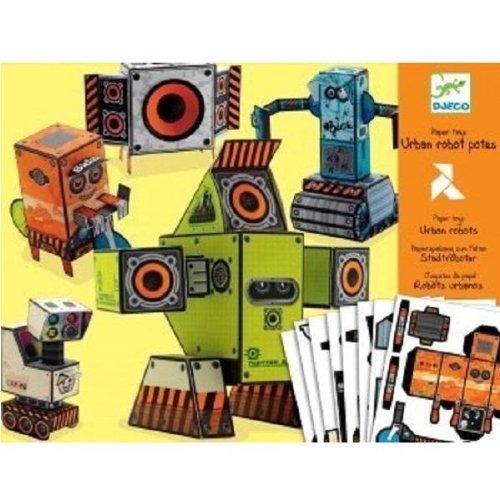 Djeco 3D Paper Toys - Urban Robots