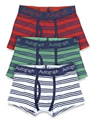 3 Pack Autograph Cotton Rich Rugby Striped Trunks