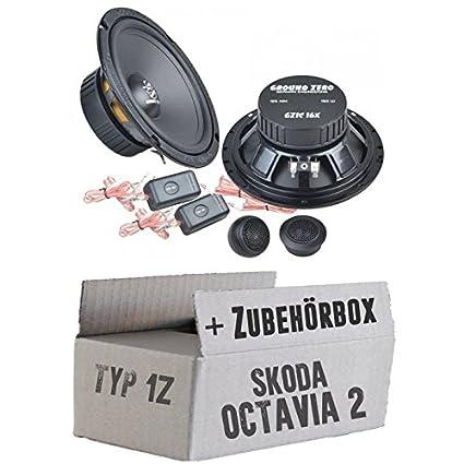 Skoda Octavia 21Z-Ground Zero GZIC 16x-16cm Système de haut-parleur avant-Kit de montage