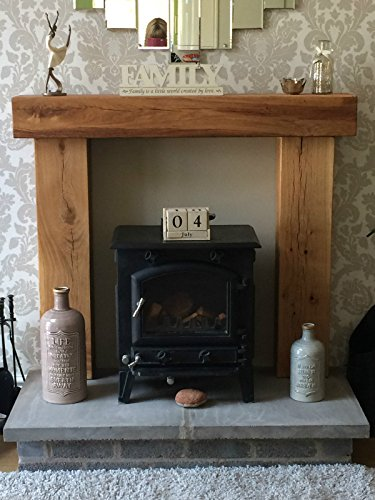 Fire place surround solid french oak beams floating shelf mantle piece inglenook finish - Solid stone fireplace mantels with nice appearance ...