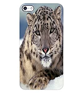 ColourCraft Tiger Look Design Back Case Cover for APPLE IPHONE 4S