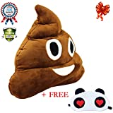 Smiley Emoji Poo Shape Emoticon Round Cushion Plush Pillow For Baby Gift