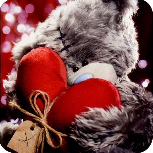 Teddy mit Herz Valentinstag