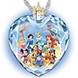 Disney Crystal Heart Pendant Necklace With Disney Character Art: Magic of Disney