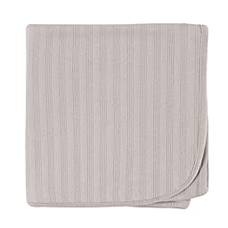 Hudson Baby Organic Cotton Receiving Blanket, Grey