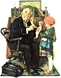 Norman Rockwell Doctor And Doll 1929 Art Print - 8 in x 10 in - Unmatted, Unframed