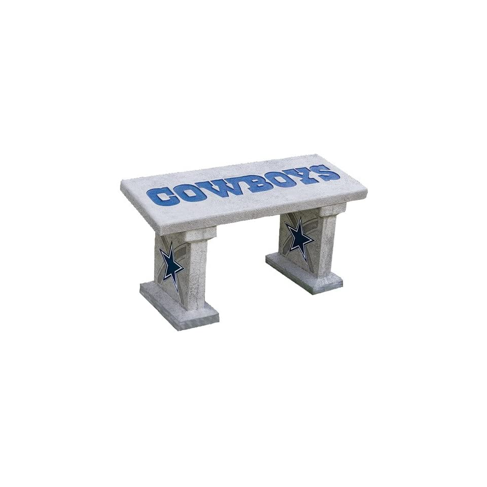 Admirable Dallas Cowboys Hand Painted Concrete Garden Bench On Popscreen Evergreenethics Interior Chair Design Evergreenethicsorg