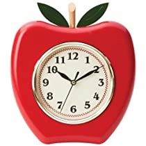 Brookwood Apple Shaped Wall Clock