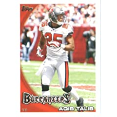 2010 Topps NFL Football Card # 162 Aqib Talib - Tampa Bay Buccaneers - NFL Trading...