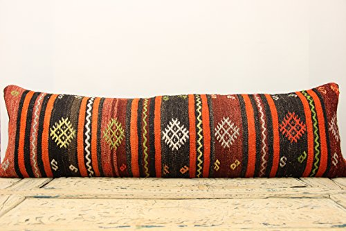 Turkish kilim pillow cover 14×47 inch (35×120 cm) Bedding lumbar Kilim pillow cover Oriental Pillow cover Kilim Cushion Cover