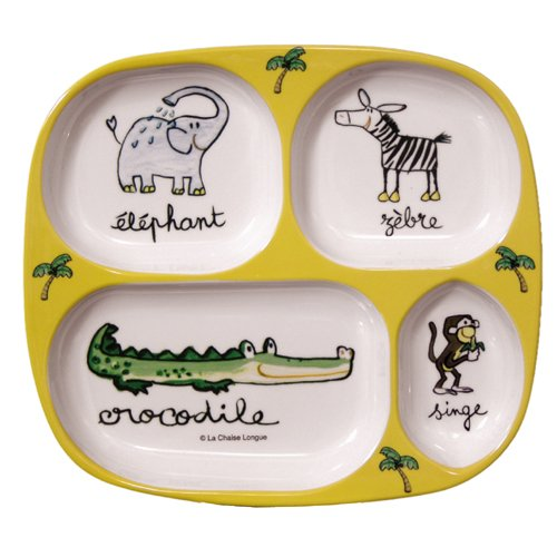 Divided Tray Baby Cie La Jungle: Jungle Yellow