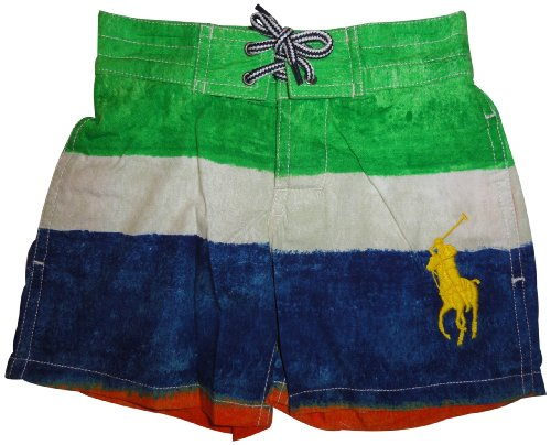 Polo Ralph Lauren Boys Sanibel Big Pony Swim Trunks Bathing Suit Multicolor, 2T front-1042843