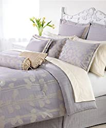 Martha Stewart Collection Floating Vines 9-Piece Comforter Set, Queen