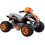 New Ride On Car Quad Bike for Kids Battery powered electric car Sound 3 colours (Black)