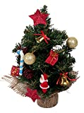 1 Feet Artificial Christmas tree with Assorted 14 Peice decoration