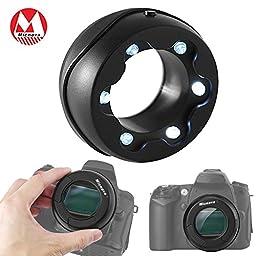 Boblov Micnova MQ-7X Sensor Loupe with Dust Illuminating Bright LED\'s for Canon Nikon Sony Gopro Olympus Pentax DSLR SLR Camera Camcorder