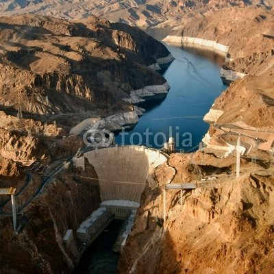 """Wallmonkeys Peel and Stick Wall Decals - Hoover Dam 2 (square Crop) - 36""""H x 36""""W Removable Graphic"""