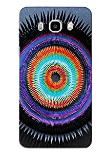 Blue Throat Stripes Pattern Hard Plastic Printed Back Cover/Case For Samsung Galaxy J5 2016
