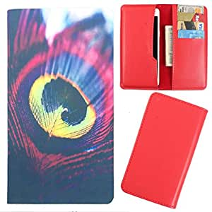 DooDa - For Micromax Canvas Juice 3+ PU Leather Designer Fashionable Fancy Case Cover Pouch With Card & Cash Slots & Smooth Inner Velvet