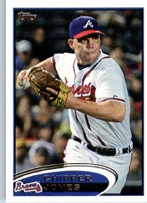 2012 Topps Baseball Card #305 Chipper Jones - Atlanta Braves - MLB Trading Card