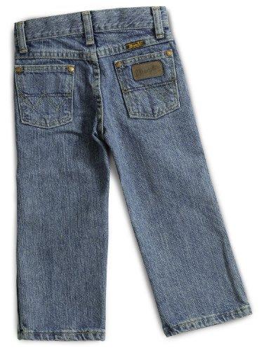 Wrangler Little Boys' George Strait Cowboy Cut Jean, Bleach Wash, 3T