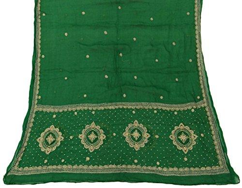 jahrgang-dupatta-indischer-schal-reiner-chiffon-silk-gestickter-gewebe-grun-schleier