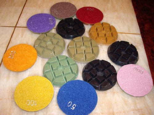 """4"""" Inch Typhoon Set of 24 Pieces (super thick: 10mm Thick) FREE SHIP Diamond Floor Counter top renew polishing pad disc travertine granite marble concrete cement"""