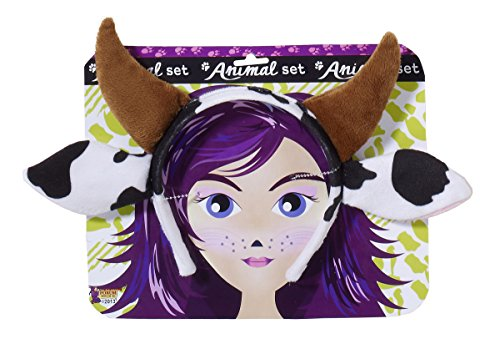 Forum Novelties Women's Playful Animals Cow Costume Accessory Set, Multi, One size