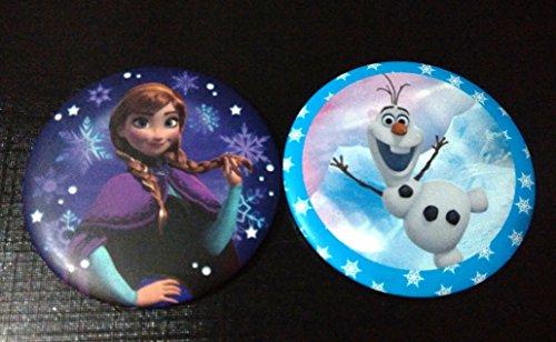 CJB Frozen Olaf Anna Mini Portable Mirror 2in1 Set (US Seller) - 1