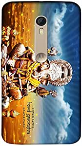 Timpax Hard Back Case Cover Printed Design : Lord Ganesha.Specifically Design For : Motorola Moto X-3 ( 3rd Gen )