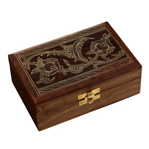Handcrafted Wooden Jewelry Box from Indian Gifts