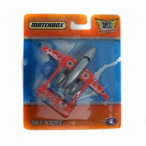 Matchbox Sky Busters Missions - Sky Knife - Red & Gray