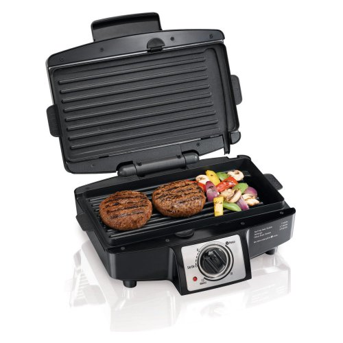 Hamilton Beach Hamilton Beach 25332 Easy Clean Indoor Grill With Removable Grid, Black, 110 Sq. In.