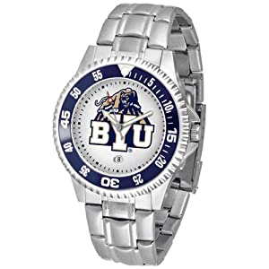 Brigham Young Cougars NCAA Competitor Mens Watch (Metal Band) by SunTime