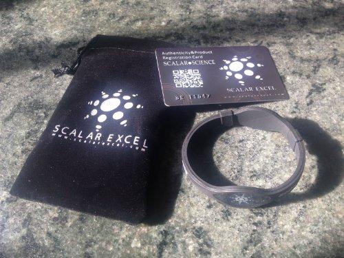 One Adult Size (18Cm) Black Power Bracelet - Scalarexcel Scalar Energy Power Emf Protection - Genuine W/ Authenticity Card