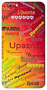 Upasna (Worship) Name & Sign Printed All over customize & Personalized!! Protective back cover for your Smart Phone : Moto E-2 ( 2nd Gen )