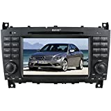 Rupse For Benz C-Class W203 / CLK W209/ CLC C240 In-dash DVD Player With 7 Inch HD Touchscreen Video Monitor GPS Sat Navi Navigation System / Radio RDS / iPod Control / Hand-free Bluetooth / Subwoofer Output / Steering wheel control (8G SD Card with3D Navi map)