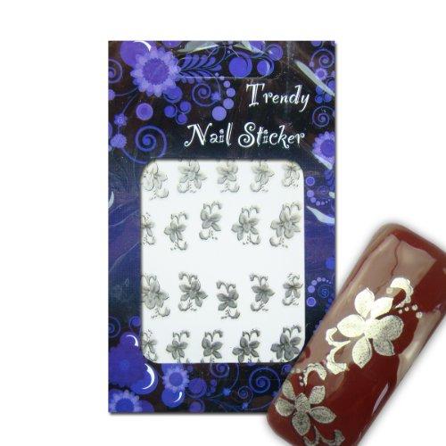 EigenArt Nail Art Ice Flower Nailart Sticker / Nagelsticker