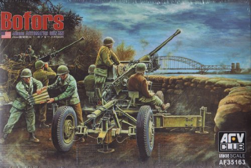 AFV35163 1:35 AFV Club Bofors 40mm Automatic Gun M1 MODEL KIT