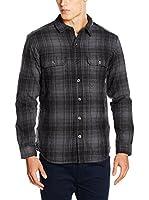 Columbia Camisa Hombre Windward Iii Overshirt (Negro / Gris)