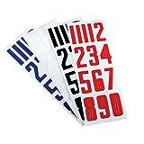 Bauer Nike Hockey Hockey Helmet Number Stickers - White