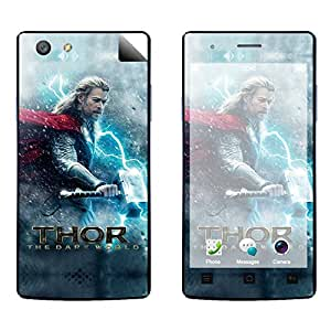 Skintice Designer Vinyl Skin Sticker for Oppo Neo 5 , Design - Thor