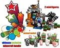 EXCLUSIVE - LEGO Minecraft [Exclusive Bundle] The Cave 21113 Playset w/ Exclusive Minecraft Papercraft Animal Mobs
