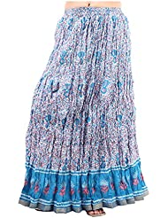 Sunshine Enterprises Women's Cotton Wrap Skirt (Blue) - B01HELPILI