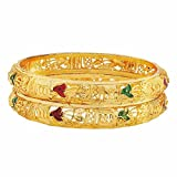 Maayra Simple Green Red Filigree 2.6 Bangle best price on Amazon @ Rs. 290