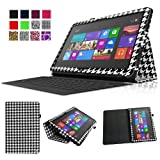 Fintie Folio Case for Microsoft Surface RT / Surface 2 10.6 inch Tablet Slim Fit with Stylus Holder (Does Not Fit Windows 8 Pro Version) - Houndstooth Black