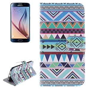 Crazy4Gadget National Style Pattern Horizontal Flip Leather Case with Holder & Card Slots & Wallet for Samsung Galaxy S6 / G920